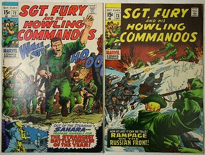 SGT. FURY and His Howling Commandos #72 - #73 - 1969 - FN