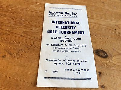 Signed 1975 Tournament Brochure Manchester United & Leeds Interest