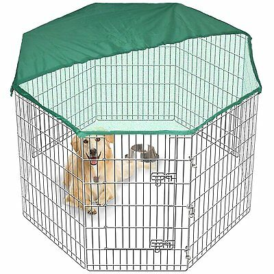 Pet PlayPen Dog Puppy Cage Folding Run Fence Garden Crate Indoor/Outdoor 8 Sided