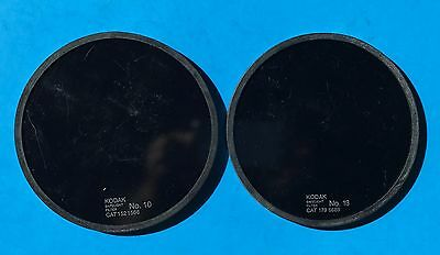 "2 Kodak 5.5"" round Safelight Filters #10 & #13"