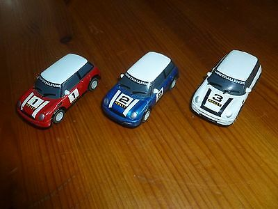 Scalextric Micro Bmw Mini Cooper X 3 Red, Blue And White - Used