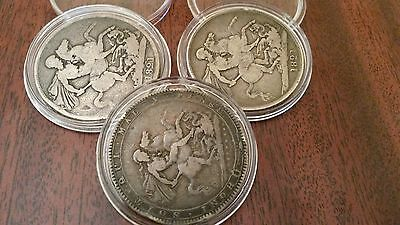 George third / fourth 1819 - 1821 Sterling Silver Crown Coins