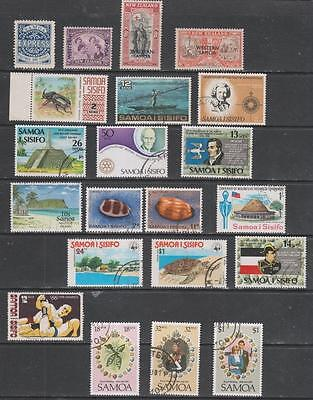 SAMOA - 21 x Mint & Used Stamps - Mainly Modern