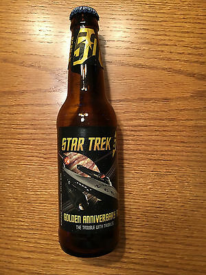 Star Trek 50th Beer Bottle-Golden Anniversary Ale -Trouble with Tribbles+ Napkin