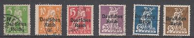 GERMANY - 1920.  Bavarian Opts - Short Set of 6 to 40pf., Used.