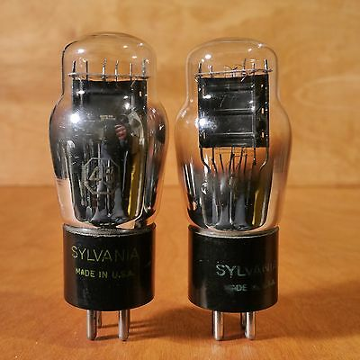Sylvania 45 Tube Pair (2) Usa, 536 Tested, Test Very Strong