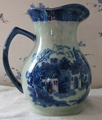 """Blue and White 8"""" Pitcher 6 1/2 """" wide MINT view all photos for condition"""