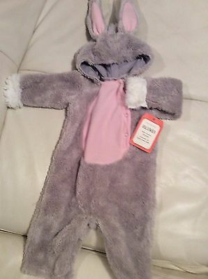 Pottery Barn Kids Baby Bunny Halloween Costume 6-12 Months NWT Soft