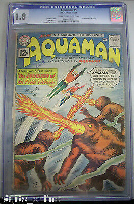 DC Comics Aquaman #1 Jan./Feb1962 CGC GRADED 1.8 1st Appearance of Quisp