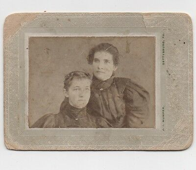 Small Cabinet Card Two Young Women, Probable Civil War Widows, Gettysburg Photo