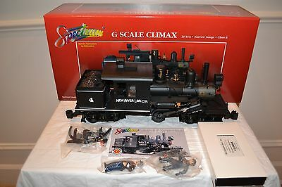 G Scale Climax Steam Locomotive by Bachmann (New in the Box-Test Run Only!)