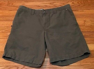 Mens COLUMBIA Green Canvas Utility Shorts Hiking Size 36