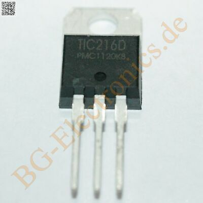 2 x TIC216D Triac 2.2W 400V 6A  PMC TO-220 2pcs