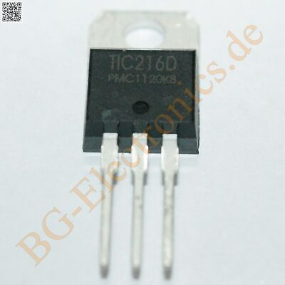 2 x TIC216D Triac 400V 6A 2.2W  PMC TO-220 2pcs
