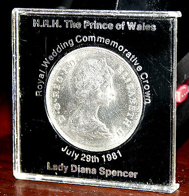 1981 Prince of Wales/Lady Diana Spencer Royal Wedding Commemorative silver Coin