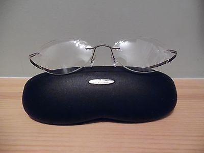 Silhouette Bendy Clear & Silver Rimless Eye Glasses & Case M6568 ?