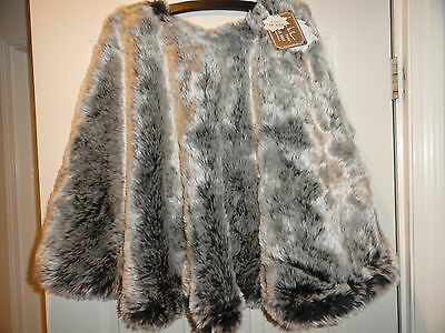"Nicole Miller Faux Fur Christmas Tree Skirt 52"" or 60"" Faux Animal Fur NWT"