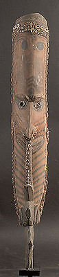 "Ancestor Spirit ""mei"" Mask W/ Shells Middle Sepik River Papua New Guinea"