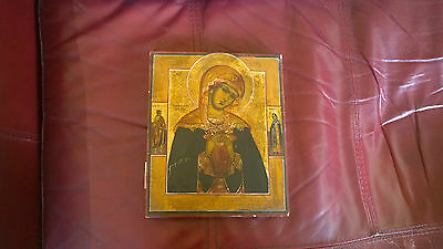 The Mother of God of the Seven Sorrows 19th Century Russian Icon Mater Dolorosa