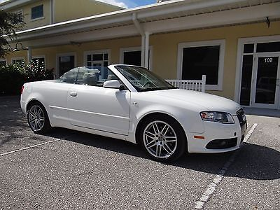 2009 Audi A4 Cabriolet Convertible S Line 2009 AUDI A4 CONVERTIBLE S LINE NAVIGATION NO ACCIDENT CLEAR TITLE GREAT SHAPE