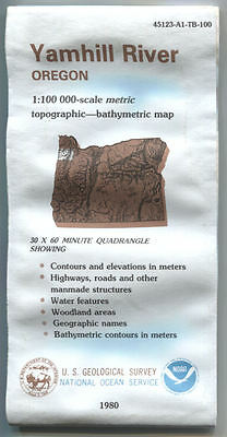 US Geological Survey topographic map metric YAMHILL RIVER Oregon 1980 NOAA