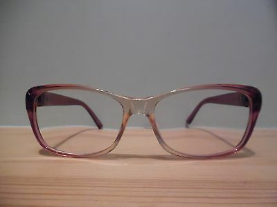 Gucci Rose Pink & Clear Oval Eye Glasses GG3681 4TL 135 Made in Italy