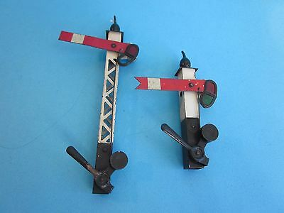 Hornby Vintage  O Gauge Track Signals. Good condition. Incomplete.