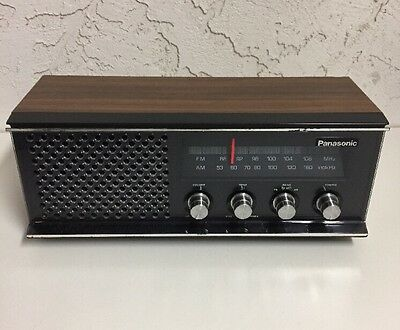 Vintage Panasonic RE-6513C FM/AM Table Top Stereo Matsushita Wooden Radio Japan