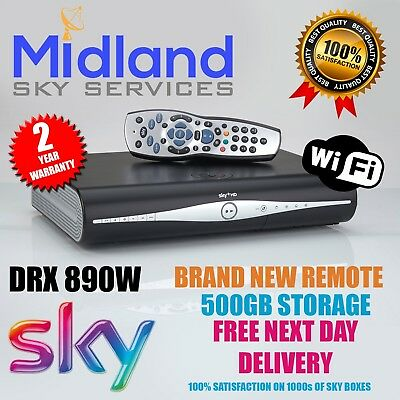 SKY+Plus HD BOX WITH BUILT IN WIFI 500gb 2017 DRX890w With Remote Control