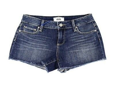 Paige NEW Blue Size 26 Junior Cut Off Stretched Denim Shorts $99 082 DEAL