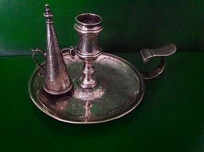 Elizabeth Cooke Georgian Antique English Sterling Silver Chamberstick 1765