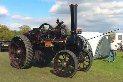 Steam Traction Engine Photo Picture Of A Brown Tractor Photograph And Tent.