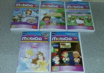 VTECH MOBIGO 2 TOUCH LEARNING SYSTEM 5 Games NEW