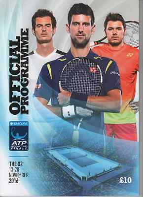 2016 Barclays ATP World Tour Finals Programme: Tennis: Andy Murray victory!