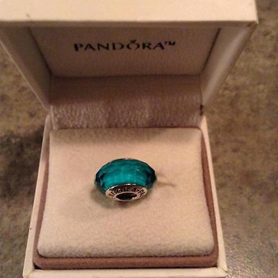 "~Pandora S925 ALE ""Fascinating Teal"" Murano Charm~"