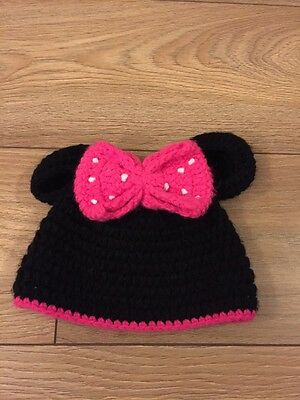 Girls Minnie Mouse Hat Age 1-2
