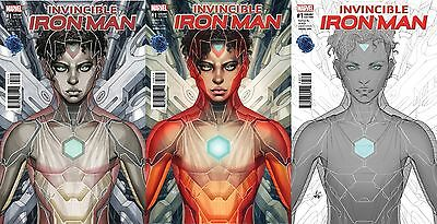 Invincible Iron Man #1 Now Legacy Edition Artgerm Color Copic Inked Variant Set