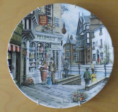 Royal Doulton Window Shopping Collector Plate Series The Pharmacy & Paperwork