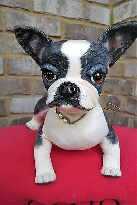 OOAK~collectable~poseable~Boston Terrier~puppy~dog