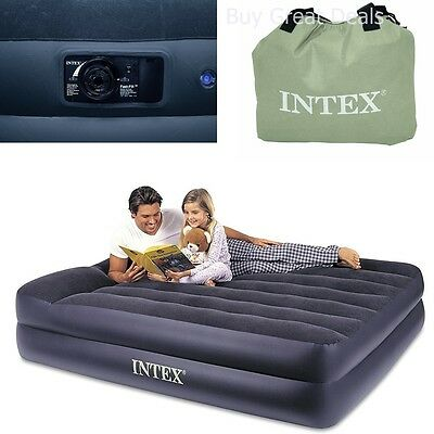 Air Bed with Electric Pump Inflatable Mattress Queen Size Outdoor Rest Camping