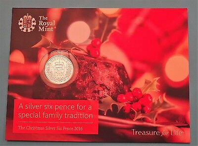 Silver Sixpence In Royal Mint Christmas 2016 Pack