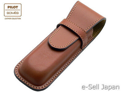 Pilot x SOMES Cowhide leather pen sheath for two pens SLS2-01-BN / Brown