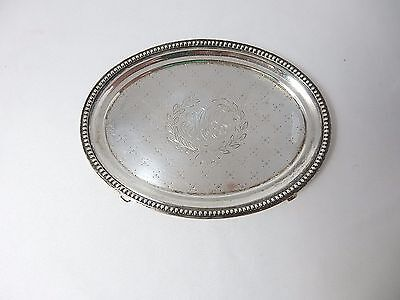 "RARE form Caldwell sterling teapot stand or tray , 6.5 "" 5.1 oz circa 1880's"