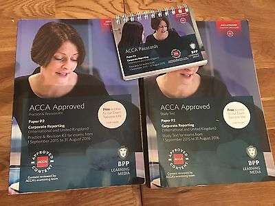 BPP ACCA P2 Corporate Reporting Study Book, Revision Kit, Pass Cards
