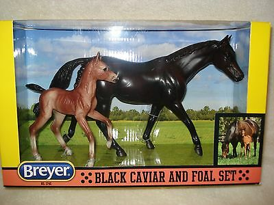 Breyer Horse Set #1740 Black Caviar and Foal Set Model Horses NEW