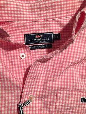 NWT Vineyard Vines Mens Small S Classic Fit Tucker Shirt Button Down LS Whale
