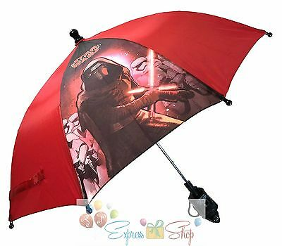 NEW!!Disney Star Wars The Force Awakens Kylo Ren Molded Handle Umbrella for Kids