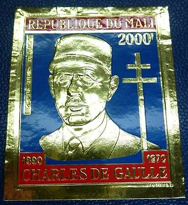 Mali 1970 President de Gaulle General France Michel # 267 IMPERF MNH