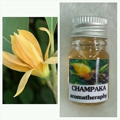 CHAMPAKA (JAMPA) AROMA ESSENTIAL OIL FOR DIFFUSER, SPA BATH, CANDLE LAMP,  5ml