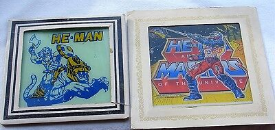 Vintage He-Man Lot Masters of Universe Roboto Carnival Fair Prize Glass Picture
